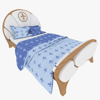 3d child s knight bed interior