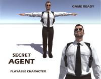max human secret agent character man