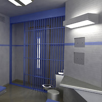 3d model of bed prison cell