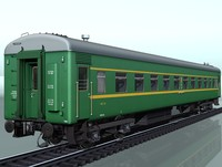 3ds 4-axles passenger railcar 52w