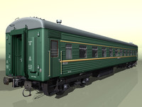 3d 4-axles passenger railcar pw-03
