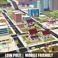 3d model city town