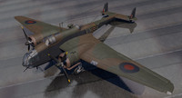 handley page hampden mk-1 3d model