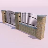 ready fence gate 3d model