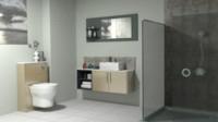3d model modern bathroom
