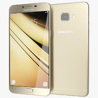 realistic samsung galaxy c7 3d model