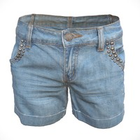 3d model of realistic jeans shorts