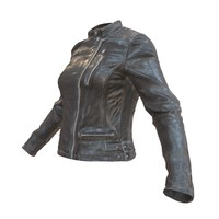 leather jacket 3d fbx