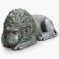 sleeping lion sculpture 2 ma