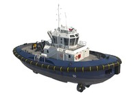 tugboat offshore 3d model