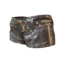 leather gold short 3d model