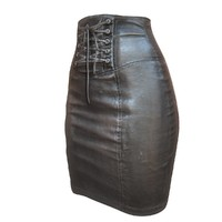 x leather skirt pencil