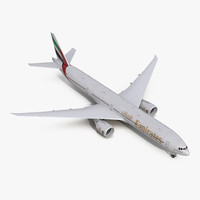3d boeing 777-300 emirates airlines