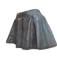 shiny black leather skirt 3d model