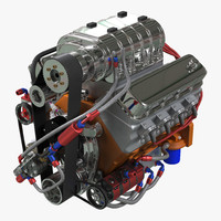 3d model diesel engine