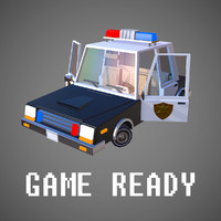 3d model police vehicle interior