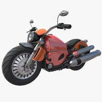 3d model rigged harley davidson