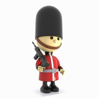 3ds cartoon guard toon