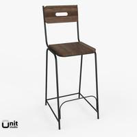 3d model percy bar chair