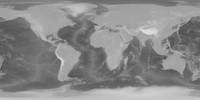 43k Earth Bathymetry Map