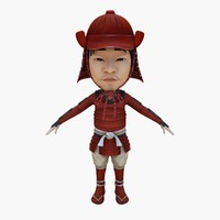 samurai japan japanese 3d model