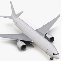 3d boeing 777 freighter generic model