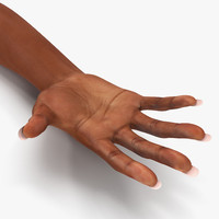 3d female hand african american model