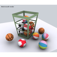 balls basketball 3d model