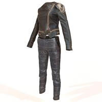 shiny leather clothing 3d model