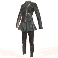 shiny leather outfit s 3ds