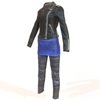 obj shiny leather clothing