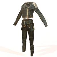 3d shiny leather clothing