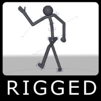 rigged stickman 3d ma