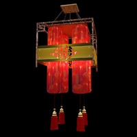 chinese lantern red 3d model