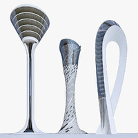 3d airport towers model