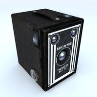 3d brownie vintage camera model
