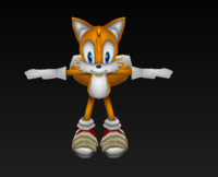 tail character sonic fbx