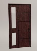 3d wood panel door model