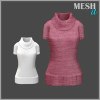 turtle neck sweater 3d 3ds