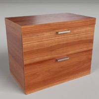 3d model of pbr uv-textured bedside table