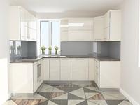 gloss kitchen 3d model