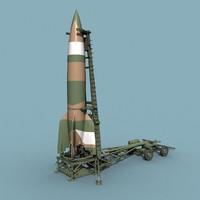 3dsmax german v-2 missile wwii