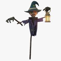 3d model scarecrow scare crow