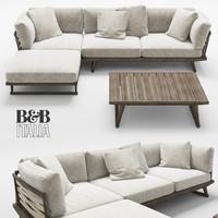 B&B Italia Gio sofa table