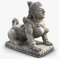sphinx statue 3d model