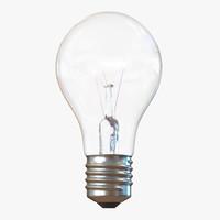 Electric Light Bulb Illuminated