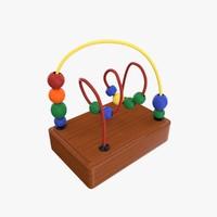 3d bead maze model