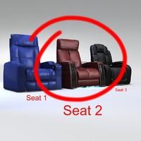 3d model seat brown