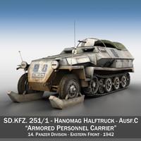 sd kfz 251 1 3d obj