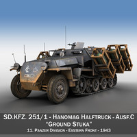 SD.KFZ 251/1 Ausf.C - Ground Stuka - 11PD